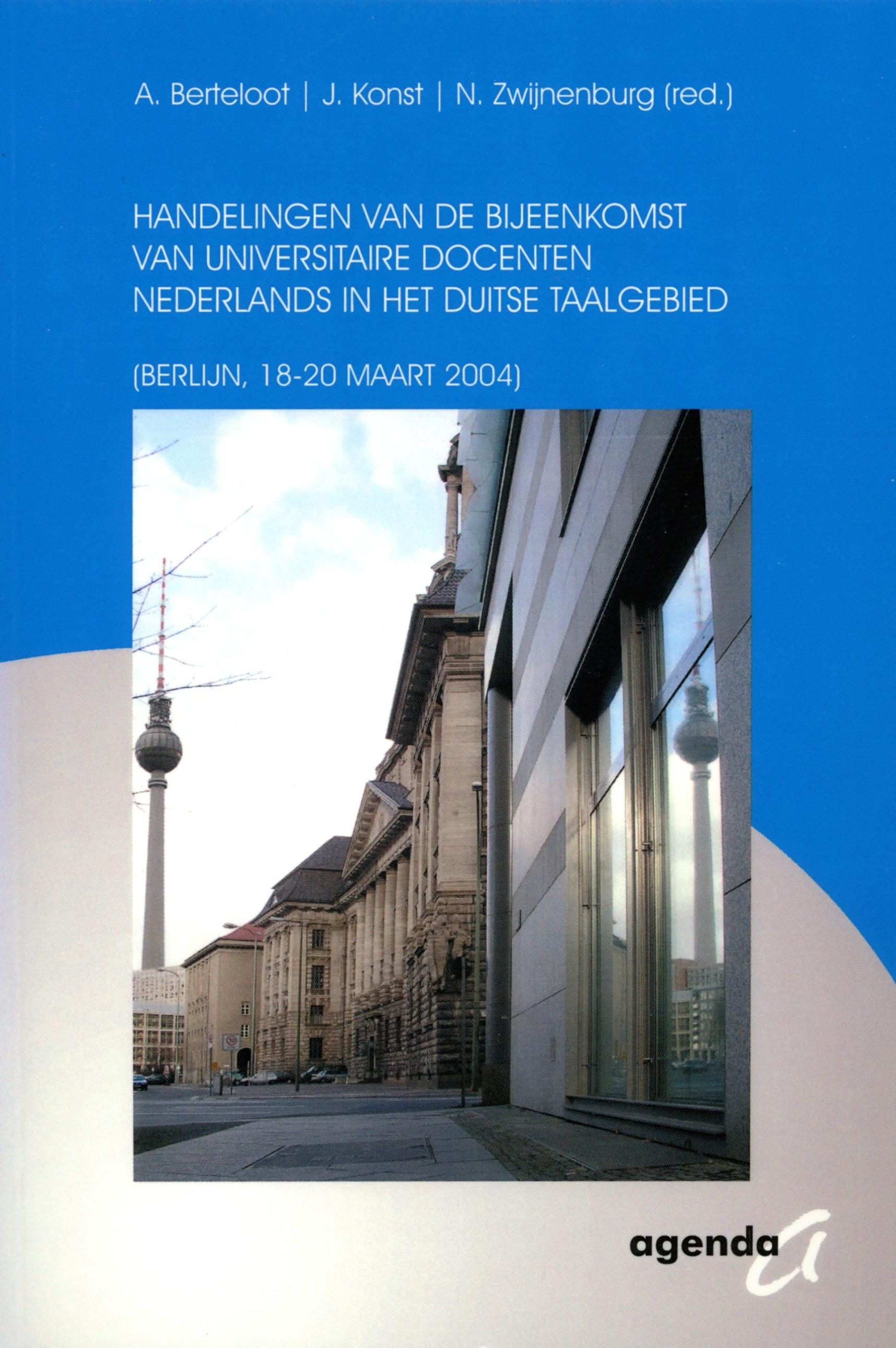 Handelingen van de bijeenkomst van universitaire docenten Nederlands in het Duitse taalgebied