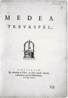 J.Six: Medea. Treurespel.
